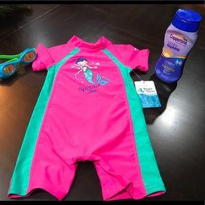 Speedo Begin to Swim Sun suit Electric Pink 12MO